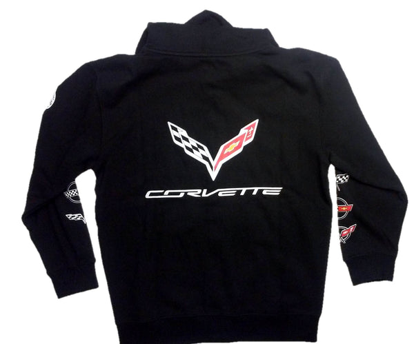 Chevrolet Corvette Zip-up Hoodie with Screen Printed Racing Logos by JH Design