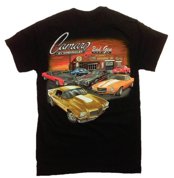 Chevy 2nd Generation Camaro Garage Short Sleeve Graphic Print T-Shirt