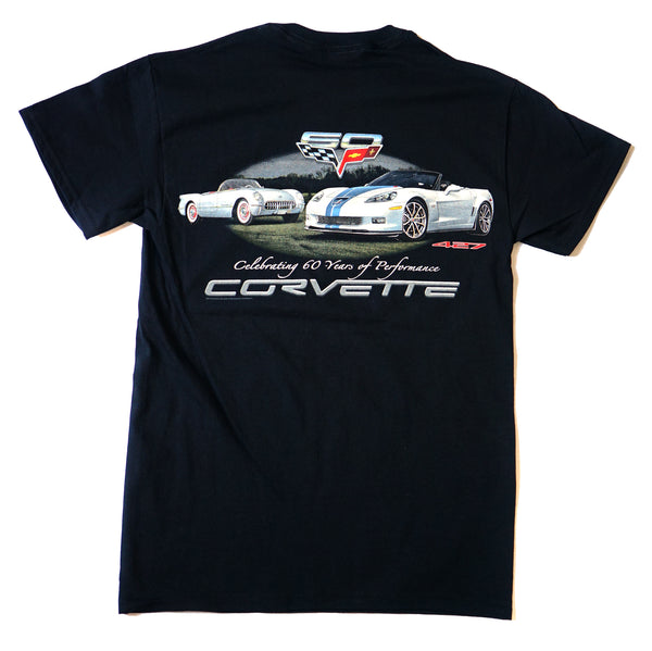 "Corvette ""Celebrating 60 Years of Awesome Performance"" Graphic Print T-Shirt"