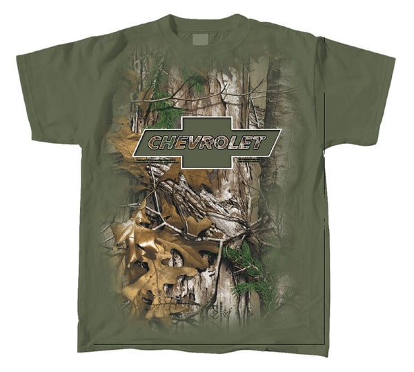Realtree Chevy Bowtie Knock Out T-shirt by Joe Blow