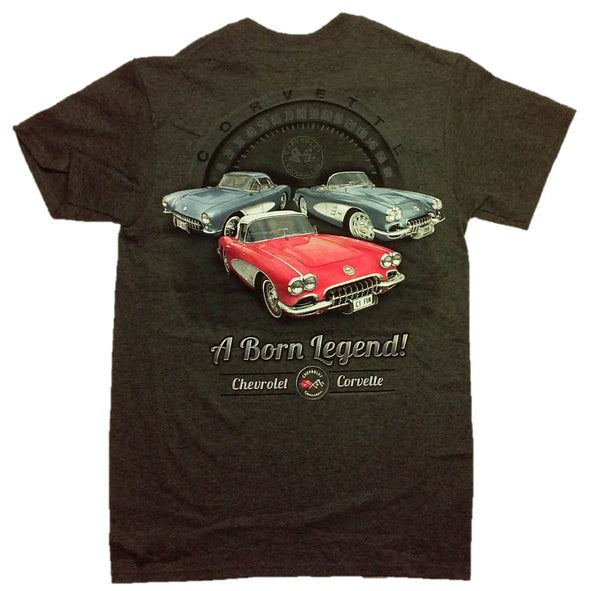 "Chevy C1 Corvette ""A Born Legend!"" Short Sleeve T-Shirt by Joe Blow T's"