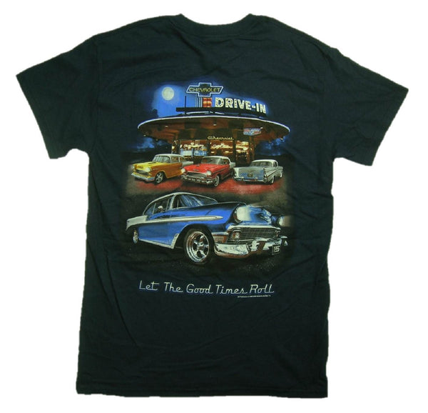Chevrolet Bel Air Tri-Five Retro Drive-in Graphic Print Short Sleeve T-Shirt
