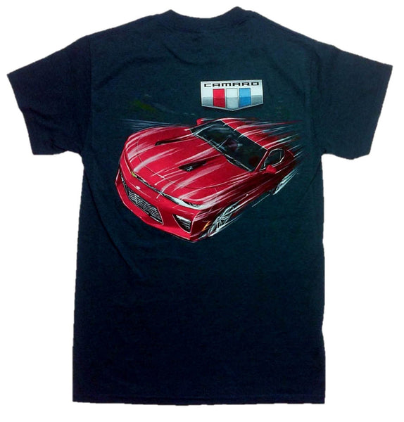 Chevy Men's Camaro 2016 Logo with Car T-Shirt by Joe Blow