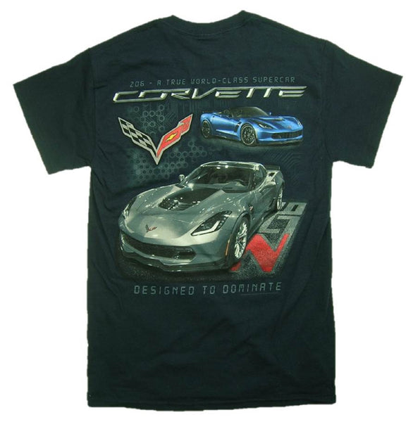"Joe Blow Men's Corvette C7 Z06 ""DESIGNED TO DOMINATE"" T-Shirt"