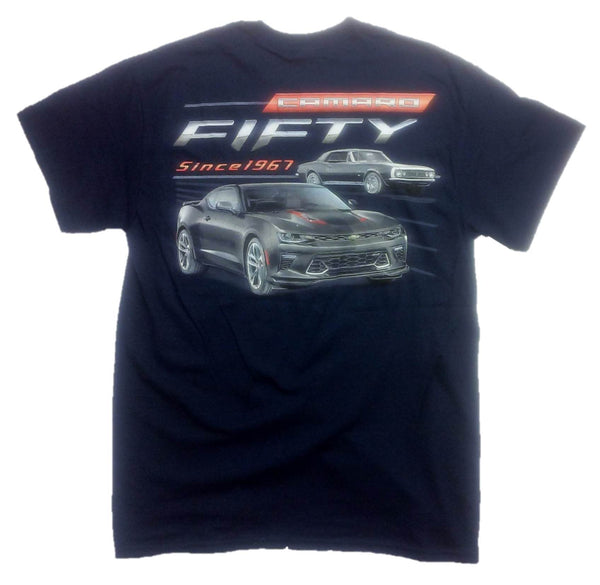 1967 - 2017 Chevy Camaro Fifty Year Muscle Car T-Shirt - By Joe Blow T's