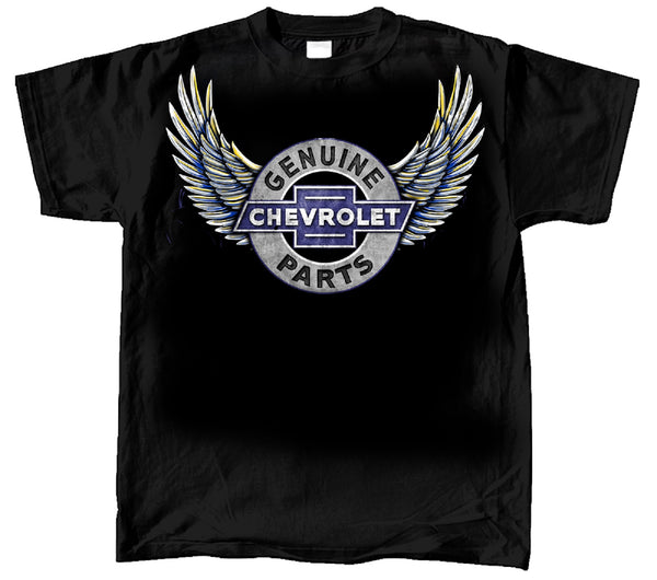 57 Chevrolet Genuine Parts Wings 100% Cotton Graphic Print Short Sleeve T-Shirt