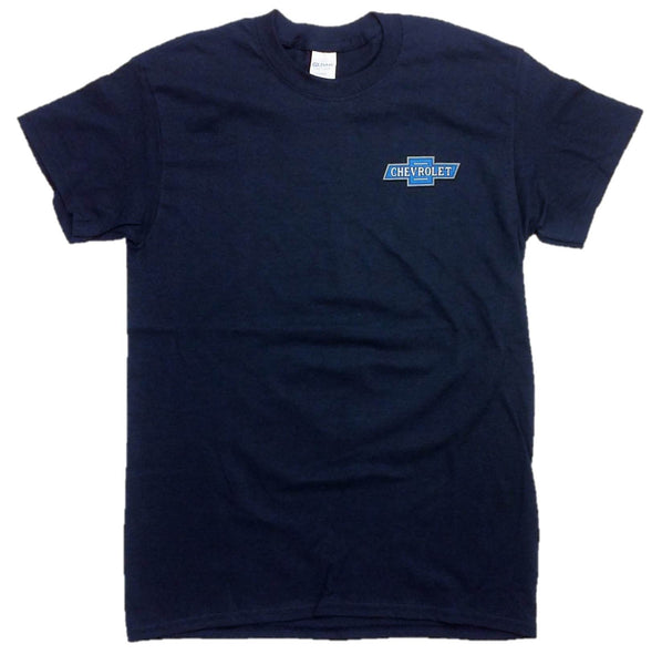 "55 to 61 Chevy ""Chevrolet Drive-In"" T-Shirt 100% Cotton Preshrunk - Blue"