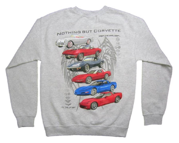 """NOTHING BUT CORVETTE"" C6 Logo Pullover Crewneck Sweatshirt"