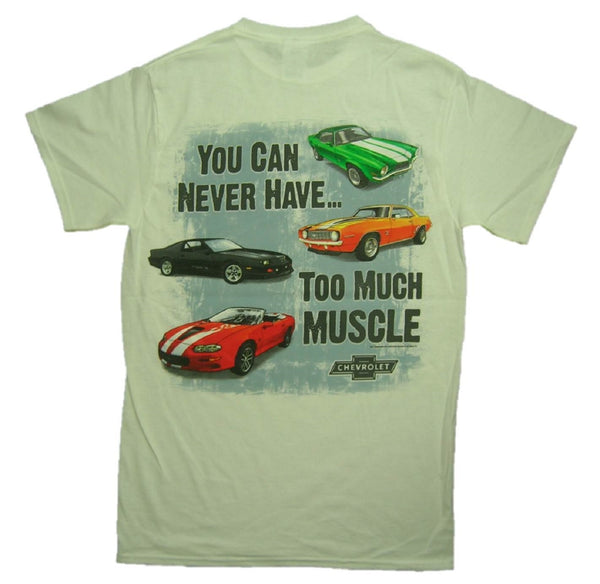 "Chevrolet ""YOU CAN NEVER HAVE TOO MUCH MUSCLE"" 100% Cotton Graphic Print T-Shirt"