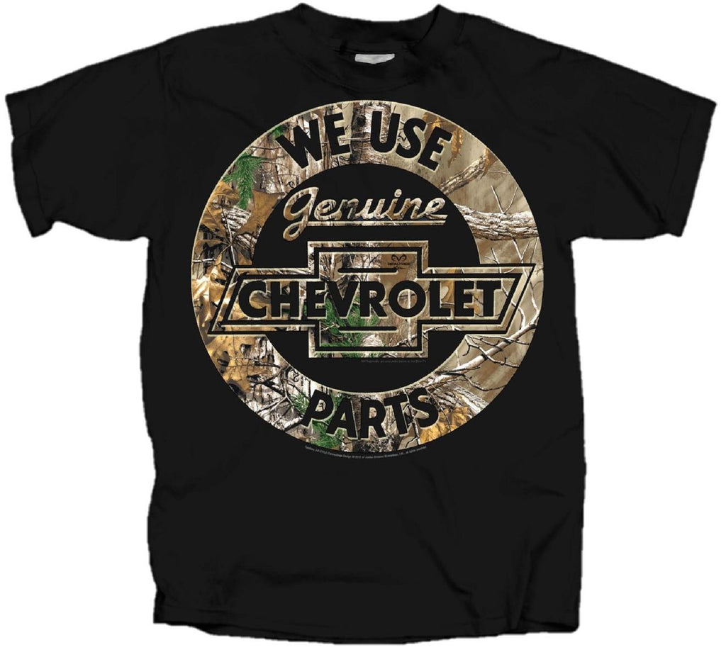 Realtree Chevrolet Genuine Parts Logo T-shirt by Joe Blow