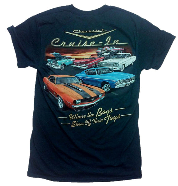 "Chevy Mens ""Cruise-In"" ""Boys Show Off Their Toys"" T-Shirt"