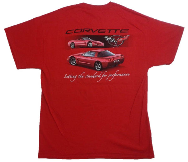 Corvette C5 Setting the Standard Performance Graphic Print Short Sleeve T-Shirt
