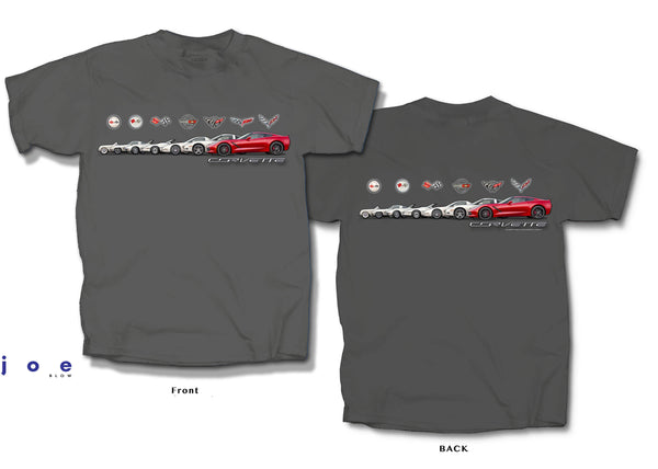 Corvette Band Print Adult Short Sleeve T-Shirt by Joe Blow T's