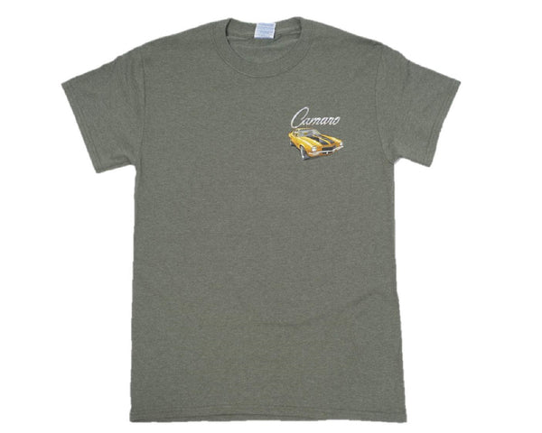 Camaro Vintage Script 50% Cotton/50% Poly Short Sleeve Graphic Print T-Shirt