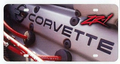 Corvette C4 ZR-1 LT5 Engine Closeup View Digitally Printed on License Plate Sign
