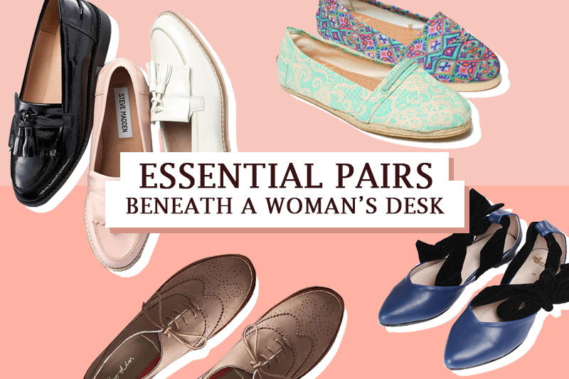 Essential Pairs beneath a Woman's Desk