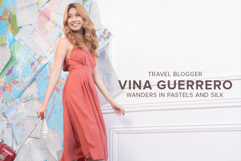 Travel Blogger Vina Guerrero Wanders in Pastels and Silk