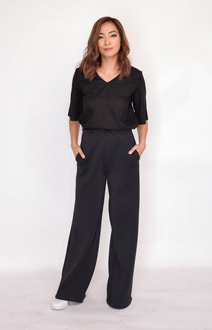 Wide Pant Amy in Black (Jackie Go X AVA)