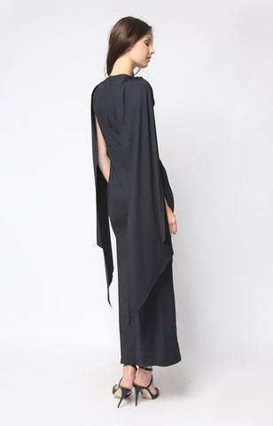 Sansa Cape Maxi in Black
