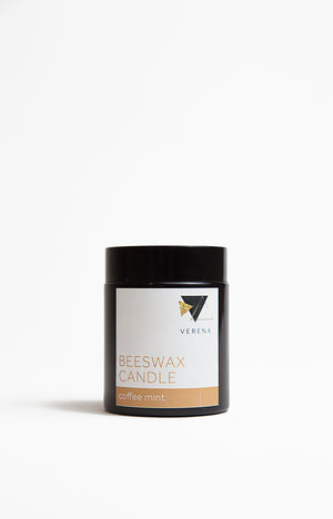 Pure Beeswax Candle - Coffee Mint