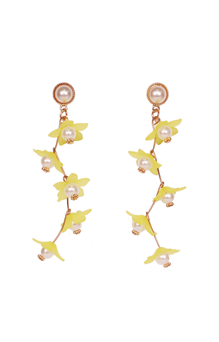 Fleur Earrings in Yellow