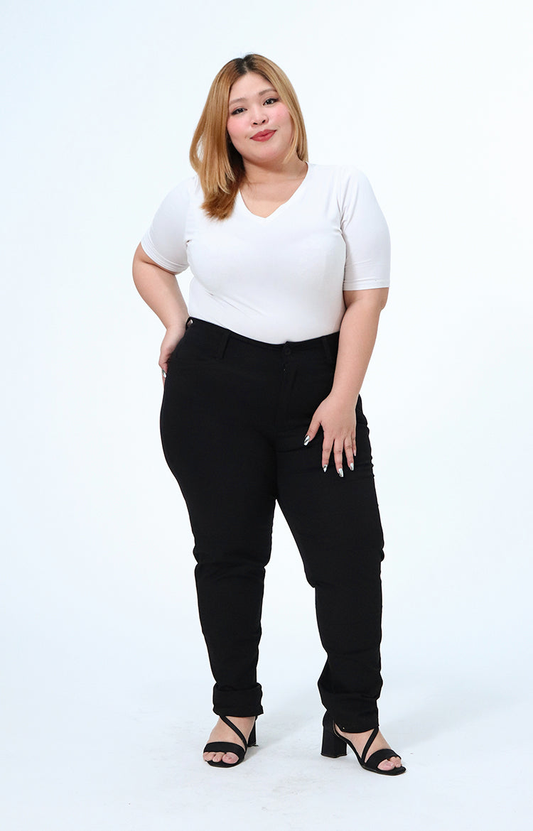 Joan Black Plus Size Wear to Work Pants