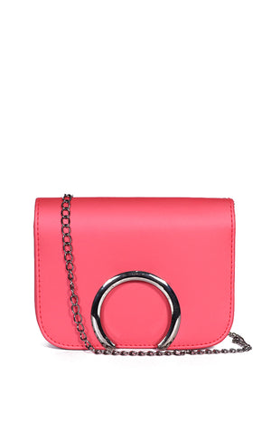 Ely Sling Bag in Matte Hot Pink