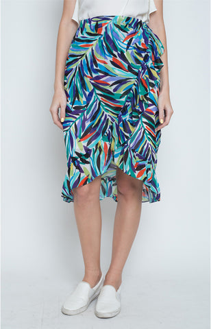 Leonor Ruffle Skirt in Multi