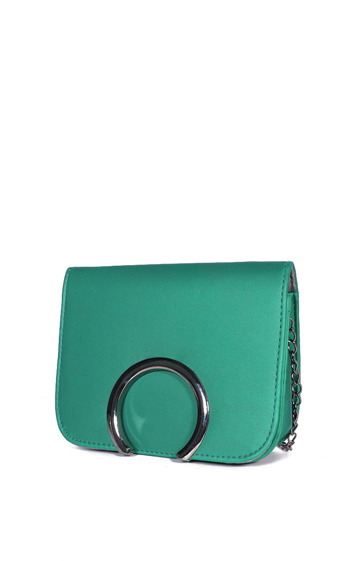 Ely Sling Bag in Matte Green