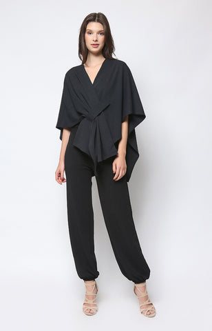 Reign Wrap Top in Black