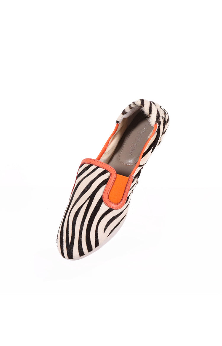 Classic Elegance Shoreditch (Zebra Pony Hair & Orange)