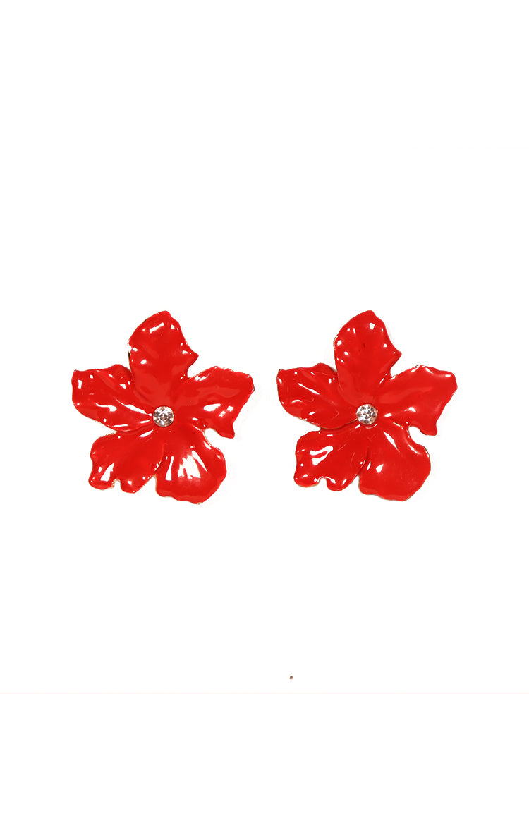 Rosas Earrings in Red