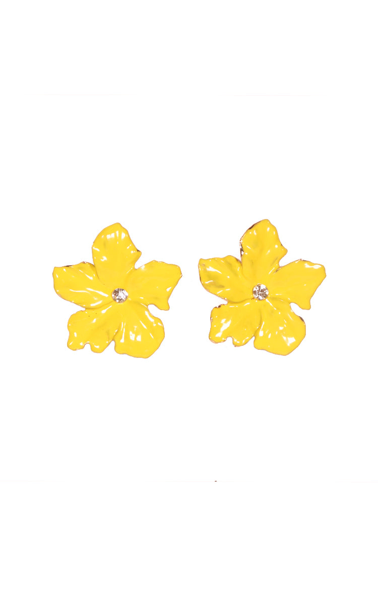 Rosas Earrings in Yellow