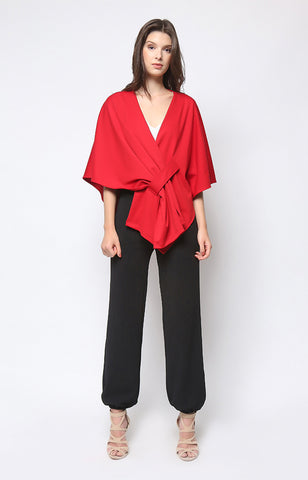 Reign Wrap Top in Red