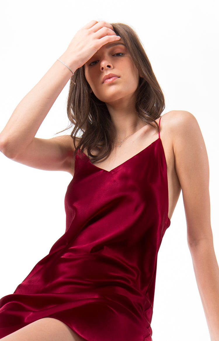 Classic Slip Dress (Red)