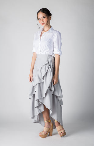 Diana Skirt- Silver Gray