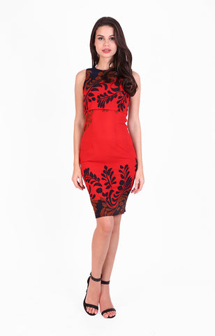 Bali Dress in Red