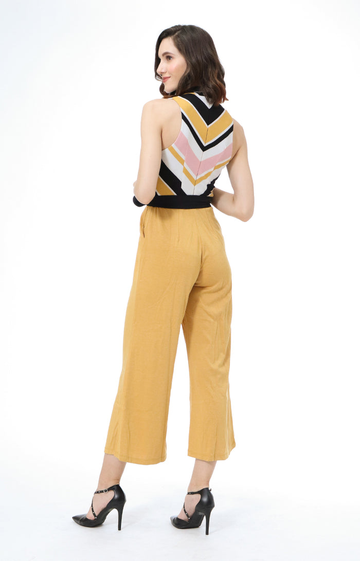 Tasha Belted Sleeveless Jumpsuit with Pockets