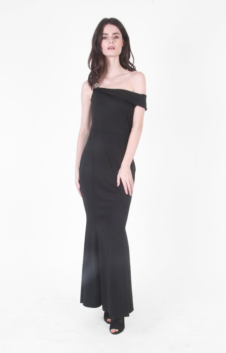 Nicolette Gown in Black
