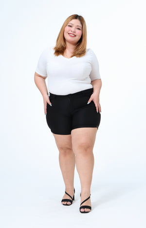Joan Black Plus Size All-Wear Shorts