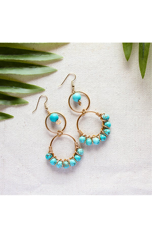 Aberdeen Earrings - Turquoise