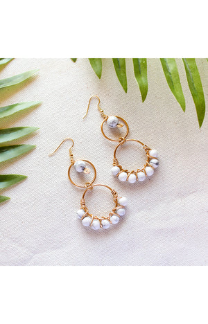 Aberdeen Earrings - Howlite