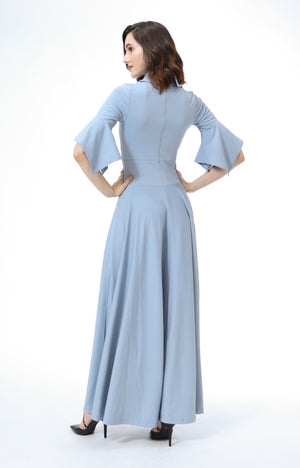 Zenia Formal Maxi Shirt Dress
