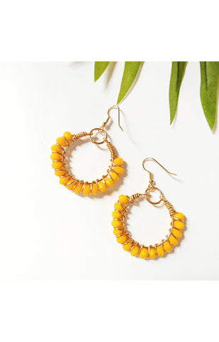 Summer Wire Hoops - Sunflower Yellow