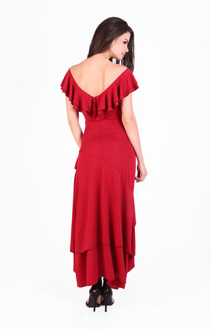 Tango Ruffle Dress in Red