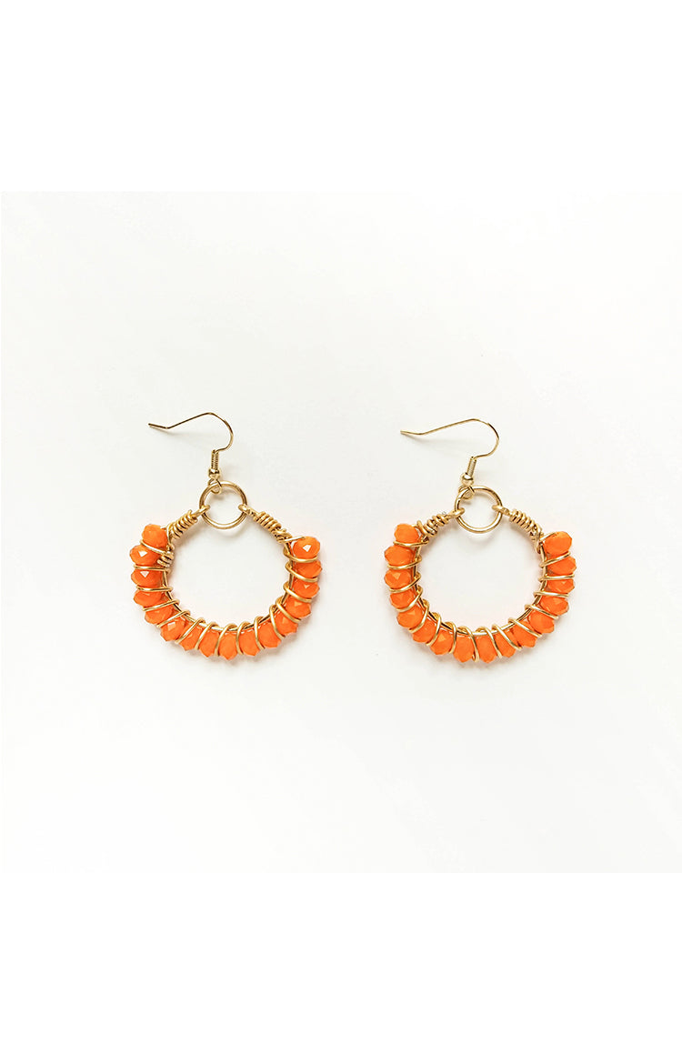 Summer Wire Hoops - Sunkissed Orange
