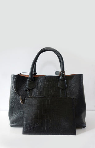 Jackie in Black Saffiano