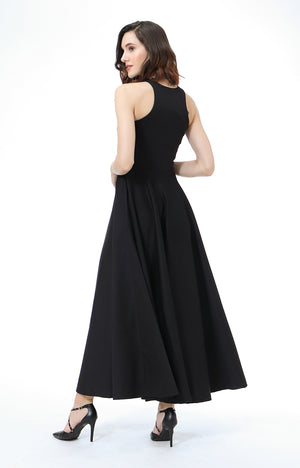 Parisienne Halter Formal Dress in Black
