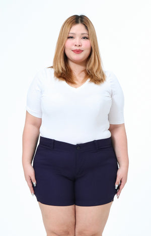 Joan Navy Plus Size All-Wear Shorts