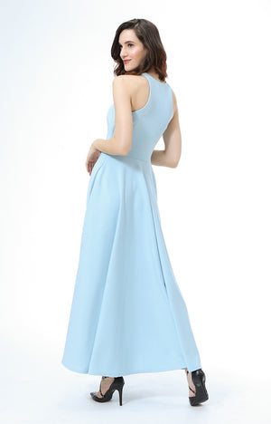 Parisienne Halter Formal Dress in Powder Blue